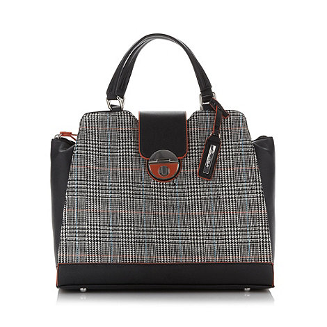 Principles by Ben de Lisi - Designer grey tweed winged tote bag