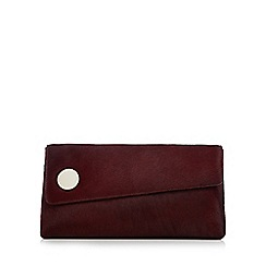 J by Jasper Conran - Wine red leather clutch bag