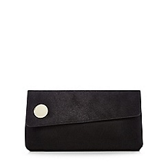 J by Jasper Conran - Black leather clutch bag