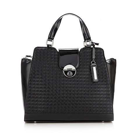 Principles by Ben de Lisi - Designer black woven panelled tote bag