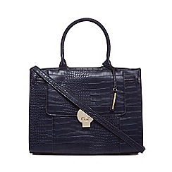 J by Jasper Conran - Navy croc effect large grab bag