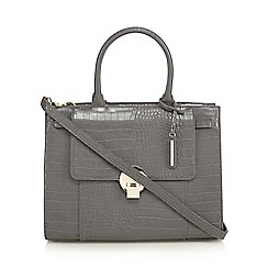 J by Jasper Conran - Grey croc effect large grab bag