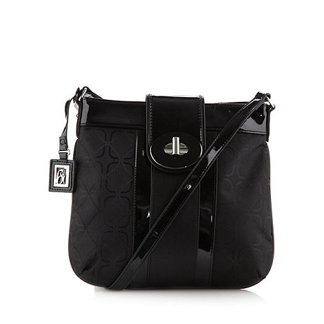 Principles by Ben de Lisi - Designer black jacquard cross body bag