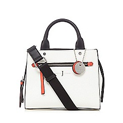 J by Jasper Conran - White colour block small grab bag