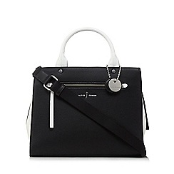 J by Jasper Conran - Black colour block large grab handle bag