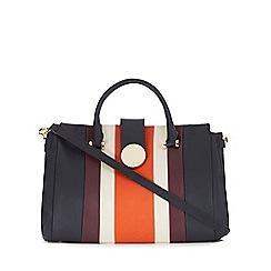 J by Jasper Conran - Navy striped grab bag