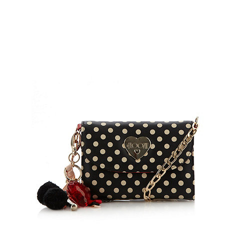 Floozie by Frost French - Black spotted mini cross body bag