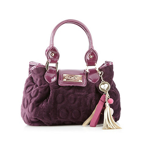 Floozie by Frost French Purple velour grab bag