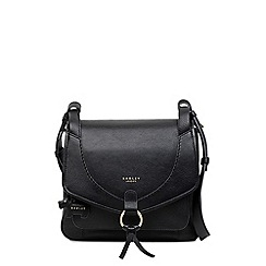 Radley - Sunray gardens black medium flapover shoulder bag