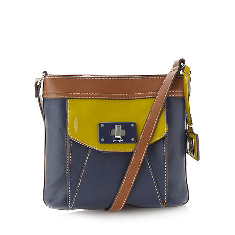 Principles by Ben de Lisi - Designer navy colour block cross body bag