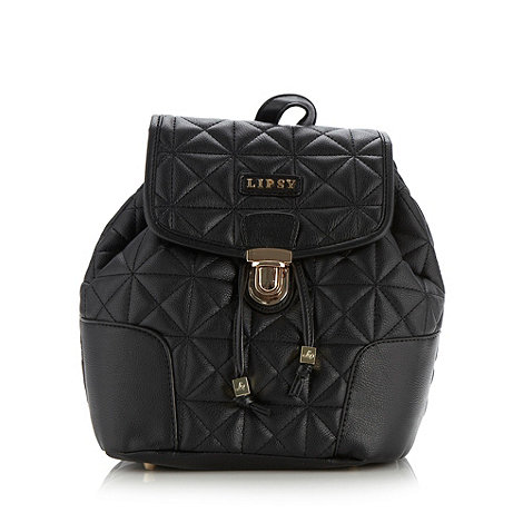 Lipsy - Black quilted backpack