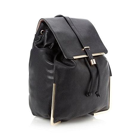 Faith - Black metal bar backpack