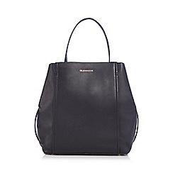 RJR.John Rocha - Black leather panel shoulder bag