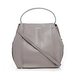 RJR.John Rocha - Light grey leather panel shoulder bag