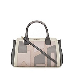 RJR.John Rocha - Grey and pink leather patchwork tote bag