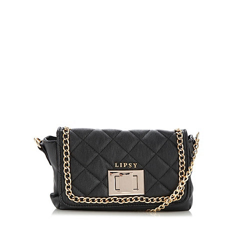 Lipsy - Black quilted cross body bag