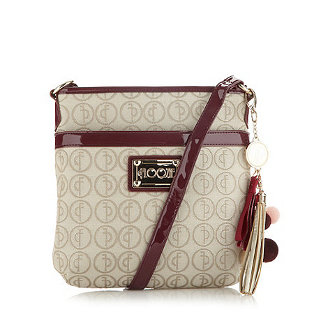 Floozie by Frost French - Cream jacquard cross body bag