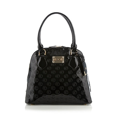 Floozie by Frost French - Black patent embossed shoulder bag