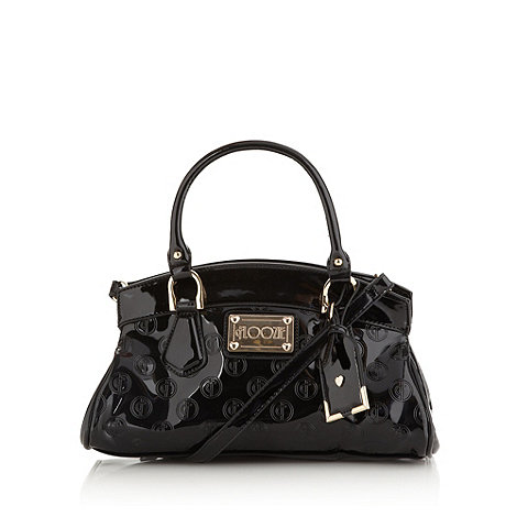 Floozie by Frost French - Black embossed patent bowler bag