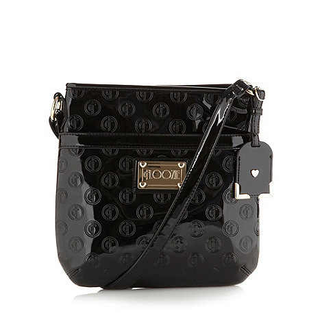 Floozie by Frost French - Black embossed patent cross body bag