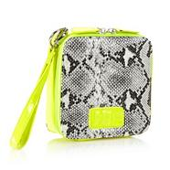 Designer yellow square box wristlet bag