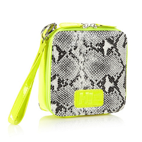 H! by Henry Holland - Designer yellow square box wristlet bag