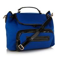 Designer bright blue backpack