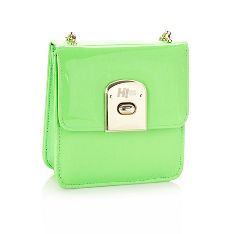 H! by Henry Holland - Designer green fluorescent cross body bag