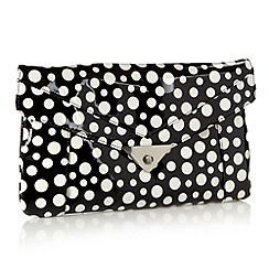 H! by Henry Holland - Designer white spotted clutch bag