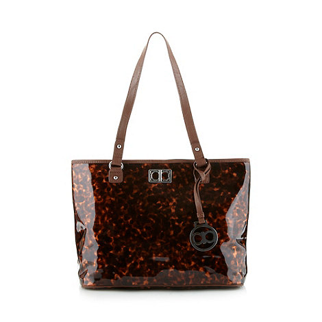 The Collection - Brown tortoise shell tote bag