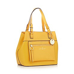 J by Jasper Conran - Yellow zip panel small shoulder bag