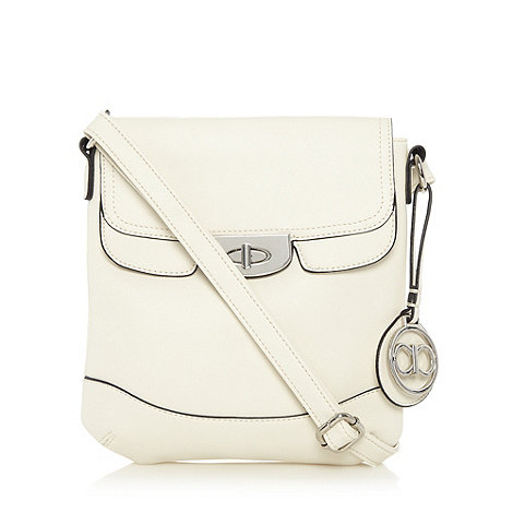 The Collection - Cream crosshatch cross body bag