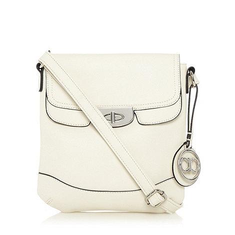 The Collection - Cream crosshatch cross body bag