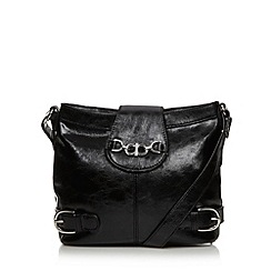 The Collection - Black distressed cross body bag