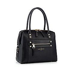 J by Jasper Conran - Black studded zip detail bowler bag