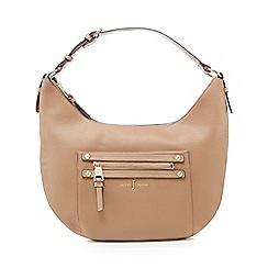 J by Jasper Conran - Camel zip detail shoulder bag