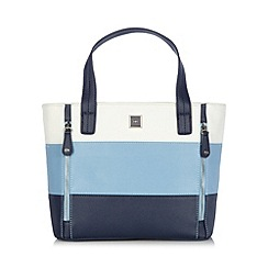 The Collection - Blue panelled zip detail grab bag