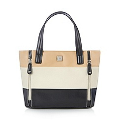 The Collection - Black panelled zip detail grab bag