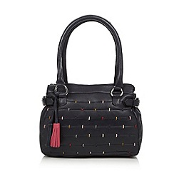The Collection - Navy leather multi stitch bag