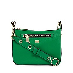 Star by Julien Macdonald - Green zip detail cross body bag