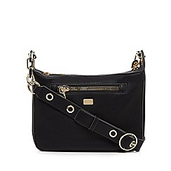 Star by Julien Macdonald - Black zip detail cross body bag