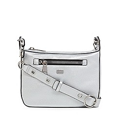 Star by Julien Macdonald - Sliver zip detail cross body bag