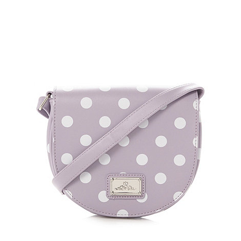Red Herring - Lilac spotted cross body bag