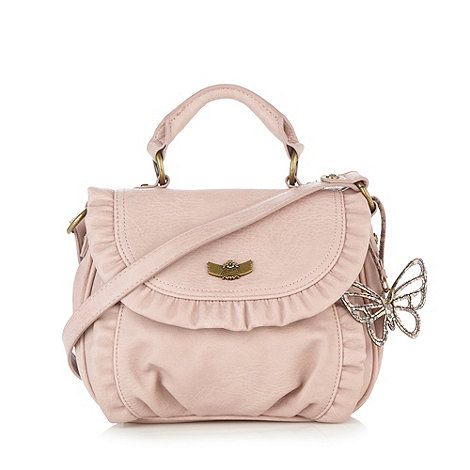 Mantaray - Dark pink frill cross body bag