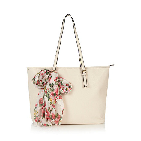 null - Natural +Venetico+ scarf detail tote bag