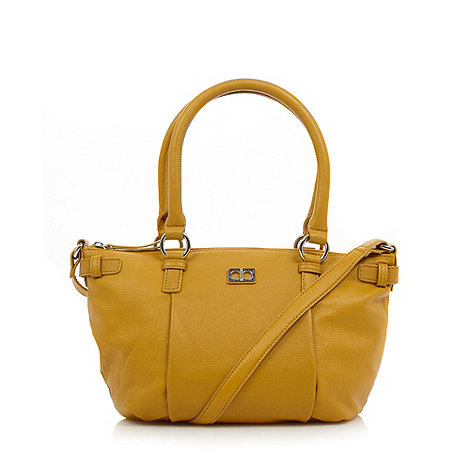 The Collection - Dark yellow leather tote bag