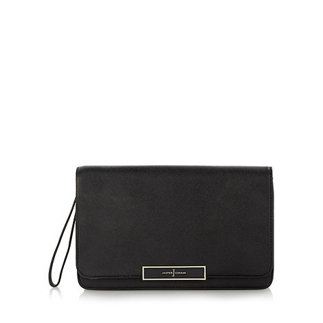 J by Jasper Conran - Designer black popper clutch