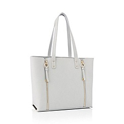 Red Herring - Grey double zip shopper bag
