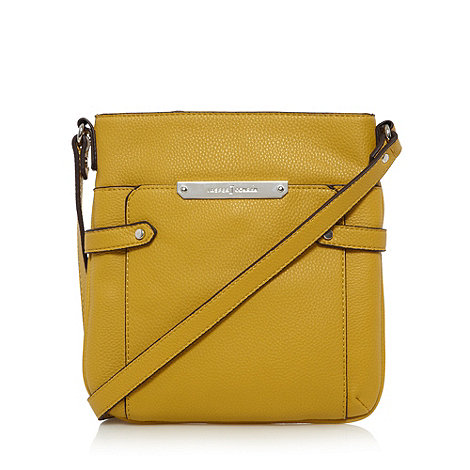 J by Jasper Conran - Designer yellow studded tab cross body bag