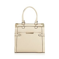 J by Jasper Conran - Designer cream metal corner tote bag